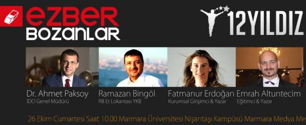 12 Yıldız, Türkiye'nin #EZBERBOZAN'larını Dünya ile buluşturuyor
